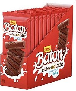 Caixa Chocolate Barra Baton Tablete Ao Leite com 10 unidades de 96g - Garoto