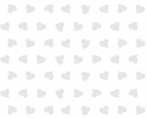 Saco Incolor decorado de Coração Branco 10x14cm com 50 Unidades - Packpel