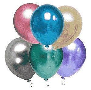 Balão Cromado Número 5 Redondo com 25 unidades - Art Latex