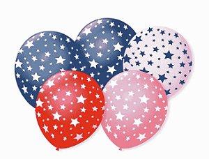 Balão temático estrelinha número 11 com 25 unidades - Art Latex