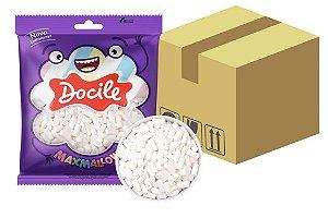 Caixa Marshmallow Mini Tubo Branco Baunilha com 20 pacotes de 150g - Docile