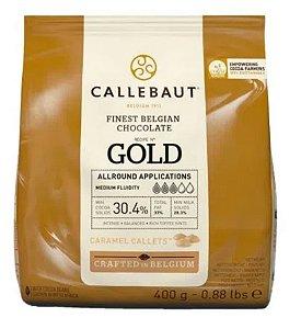 Chocolate Branco com Caramelo  GOLD 30.4%  Gotas 400g - Callebaut