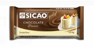Chocolate Branco Barra 1,01Kg - Sicao