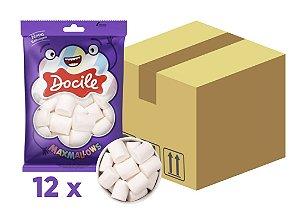 Caixa Marshmallow Tubo Baunilha com 12 pacotes de 250g -Docile