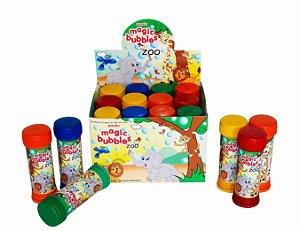 Lembrança Brinquedo Infantil - Bolinha de Sabão Magic Bublee Zoo  - C/ 12 UN