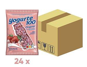 Caixa Bala Mastigável Yogurte 100 Original com 24 pacotes de 600g - Dori
