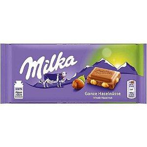 Chocolate Whole Hazelnut avelã 100g - Milka