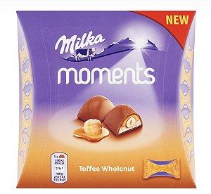 Chocolate Moments Toffee Wholenut 97g - 11 Unidades de 8,8g - Milka