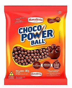 Choco Power Ball- Cereal com Cobertura Sabor Chocolate 500g - Mavalério