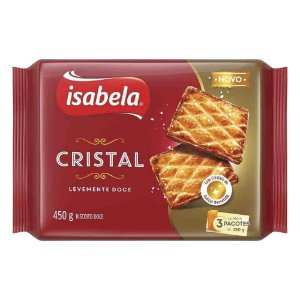 Biscoito Cristal Levemente Doce 450 g - Isabela