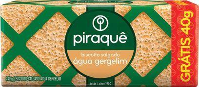 Biscoito Salgado Sabor Água e Gergelim 240g - Piraquê