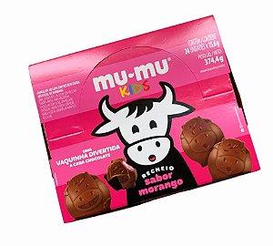 Chocolate Mu-mu Kids Sabor Morango 374,4g - 24 Unidades de 15,6g - Neugebauer