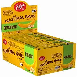 Barra de Banana Natural Bars 720g - 24 unidades de 30g - Erlan