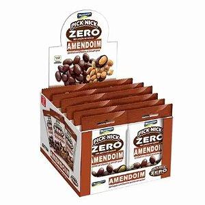 Amendoim Confeitado com Chocolate ao Leite 0% Açúcar - 12 Unidades de 40g- Montevergine