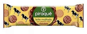 Biscoito Leite Maltado com Cobertura Sabor Chocolate - 80 g - Piraquê