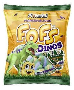 Marshmallows Fofs  Twist Sabor Baunilha  Dinos 220g - Florestal
