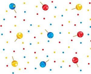 Saco Transparente Pirulito Colors 15x29cm com 50 unidades - Packpel