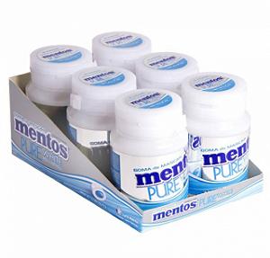 Goma De Mascar Mentos Pure White Menta Bottle C/6 - Perfett