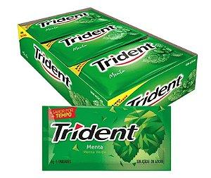 Chiclete Trident Goma De Mascar Menta com 21 unidades de 8g - Adams