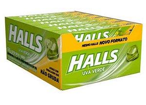 Bala Drops Halls Uva Verde Caixa C/ 21 Un. - Adams