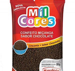 Confeito Miçanga Sabor Chocolate Mil Cores 500G Mavalerio