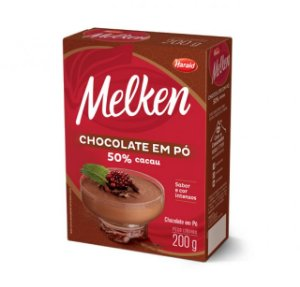 Chocolate Em Pó 50% Melken 200G Harald