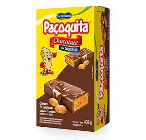 Paçoquita Coberta Com Chocolate 432G C/ 24 Un. Santa Helena