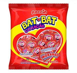 Pirulito Bat Bat Coração Morango 500g - Peccin