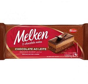 Barra De Chocolate Melken Ao Leite Barra 1,050Kg