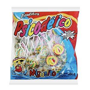 Pirulito Psicodélico Tutti Frutti Colorido com 50 unidades  600g - Miguelito