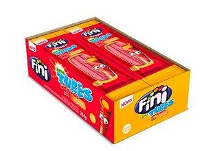Bala FiniTubes Morango com laranja Azedinho - 12 unidades de 17g cada
