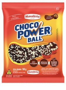 Choco power ball micro sabor chocolate e chocolate branco 500g - Mavalerio