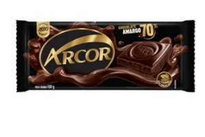 Tablete de Chocolate Amargo 70% 80G - Arcor