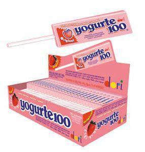 Pirulito Mastigável Yogurte 100 c/50 - Dori