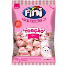 Marshmallows Torção Rosa 250g FINI