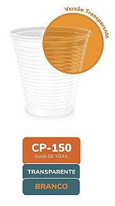 Copo Descartável Transparente frisado 150ml com 100 unidades - Minaplast