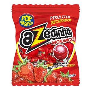 Pirulito Pop Mania Azedinho Morango Recheio Mastigável c/50 - Riclan
