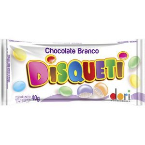 Disqueti Chocolate Branco 40g - Dori