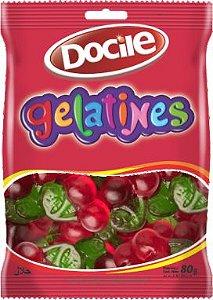 Bala de Gelatina Cereja 80g - Docile