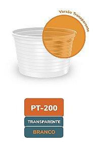 Pote Descartável transparente frisado 200ml com 50 unidades - Minaplast