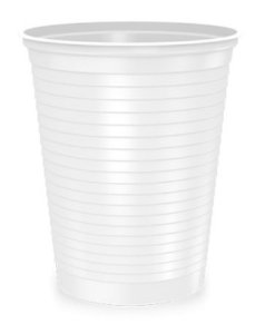 Copo transparente descartável 300 ml caixa com 2000 unidades - Minaplast
