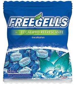 Bala Dura Eucalipto Refrescante Freegells 584g - Riclan