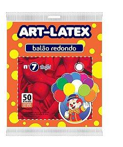 Balão nº 7 Buffet Redondo Vermelho c/ 50 Un - Art Latex