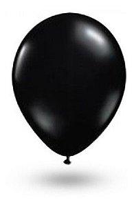 Balão nº 7 Buffet Redondo Preto c/ 50 Un - Art Latex