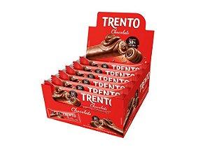 Chocolate Com Wafer Trento Recheio Chocolate 16 Un - Pecin