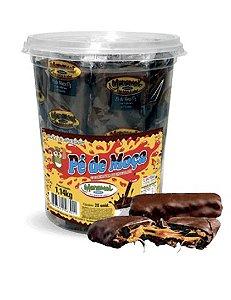 Pé de Moça com  Cobertura De Chocolate com 20 Unidades de 57g (Pote 1,14kg) - Manamel