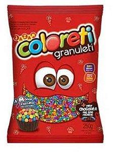 Confeito Chocolate Coloreti Granuleti 250g - Jazam