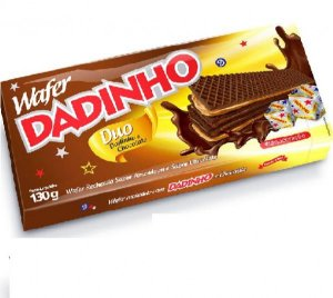 Biscoito Wafer Dadinho Duo Doce Sabor 130g