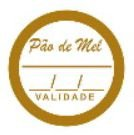 Etiquetas adesivas Decorativas Pão de Mel c/ 100 Un - Eticol