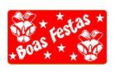 Etiquetas adesivas Decorativas Boas Festas  c/ 100 Un - Eticol